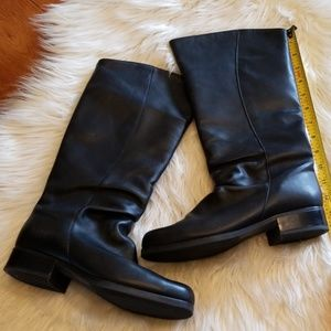 Santana black leather boots